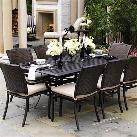 outdoor dining room furniture plaza dining wicker patio furniture by summer classics