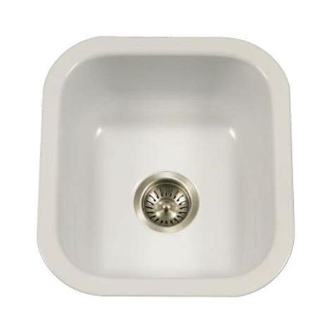 white enamel kitchen sinks houzer porcela series undermount porcelain enamel steel 16