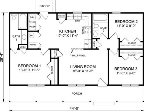 3 bedroom 3 bath house plans lovely 3 bedroom 2 bath 1 story house plans new home plans design