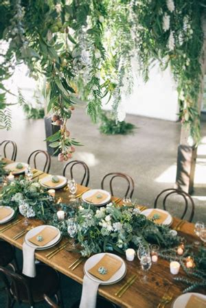 decoration ideas for table settings 2017 wedding trends top 30 greenery wedding decoration ideas