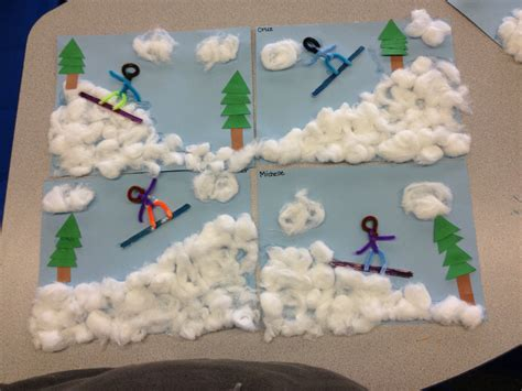 winter themed crafts for le olympic torch craft for and toddlers no time