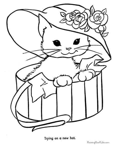 cat coloring pages letscoloringpages com cute cat with