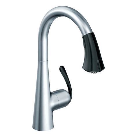 grohe kitchen faucets shop grohe ladylux stainless steel pull kitchen