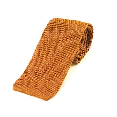 Golden Mustard Silk Knitted Tie Extras