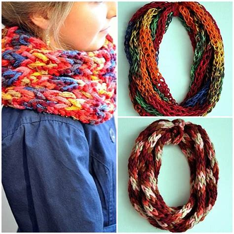 how to make a knit scarf finger scarf