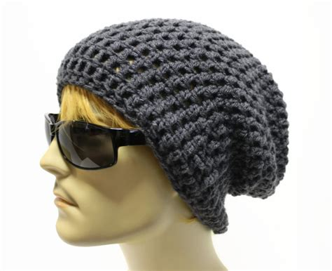 mens slouchy beanie knitting pattern free slouchy beanie crochet pattern images