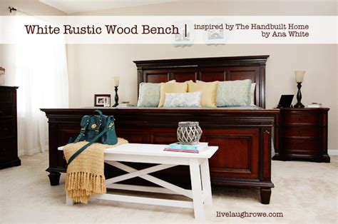 chalk paint bench ideas white rustic wood bench live laugh rowe