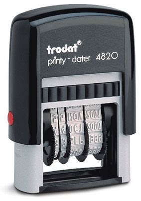 trodat rubber st trodat 4820 4mm high characters tst rubber st