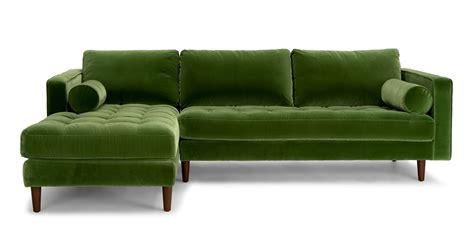 green sectional sofa sven grass green left sectional sofa sectionals