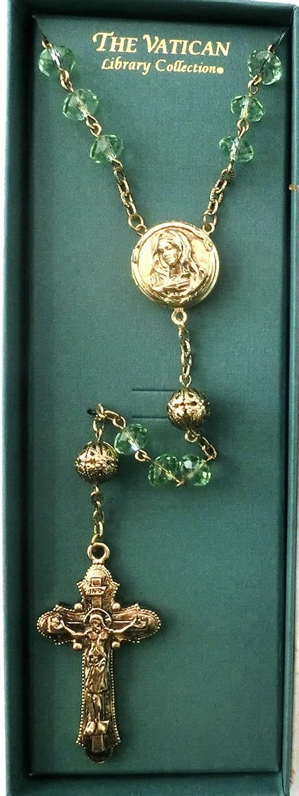 rosary vatican green vatican collection rosary