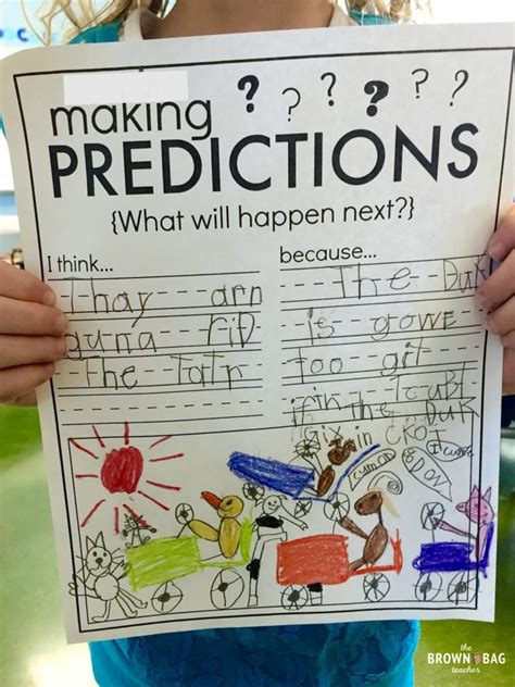 picture books for predicting predictions 1st grade read aloud the brown bag