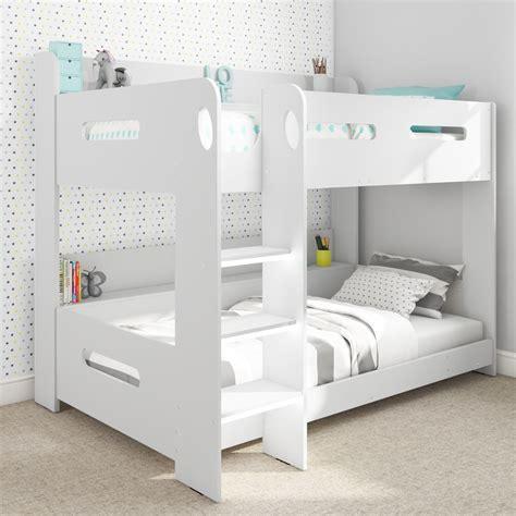 ebay bunk beds uk modern white wooden bunk bed storage shelves ebay