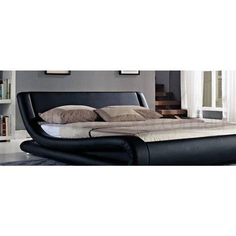curved bed frame leonardo pu leather curved bed frame in black buy