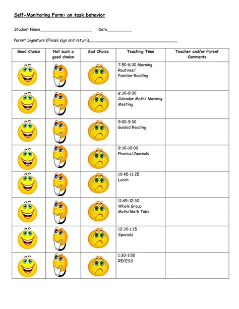 Behaviour Modification Of A Child by Behavior Modification Charts Daily Behavior Chart On