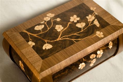 woodworking marquetry jewelry box with radius bends nard woodworking