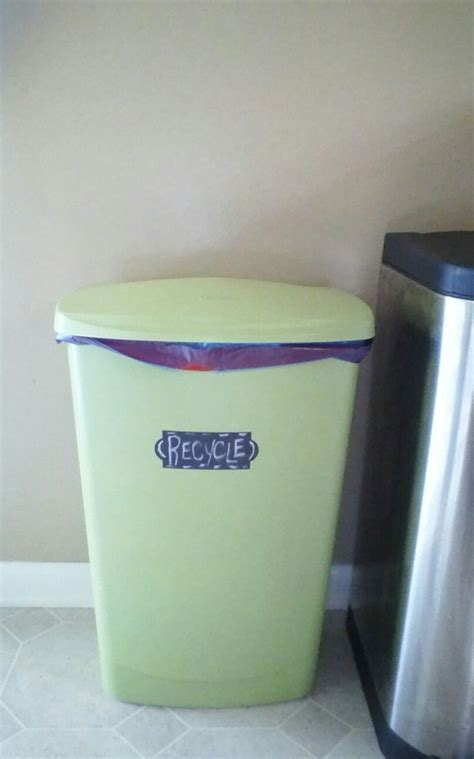 spray paint on trash can diy recycle bin white trash can spray painted then