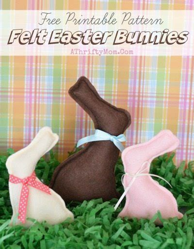 free craft ideas felt easter bunny pattern free printable