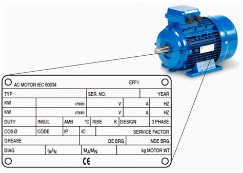 Electric Motor Information by Motor Nameplate Automotivegarage Org