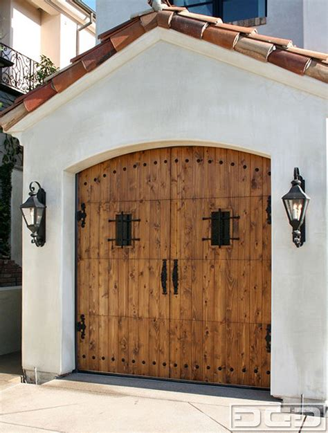 Pueblo Style Ranch Home spanish colonial 03 custom architectural garage door