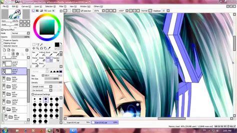 paint tool sai software certificate form speed paint miku hatsune