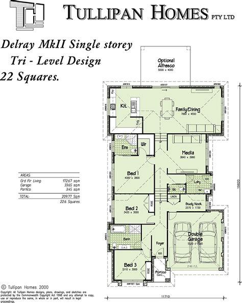 tri level home plans designs delray mkii tri level upslope design home design tullipan homes