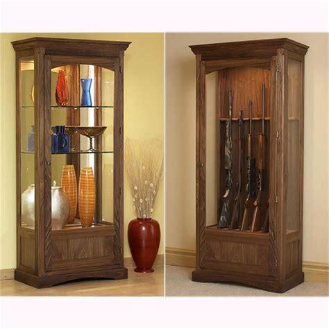 woodworking plans gun cabinet convertible display and gun cabinet woodworking plan from