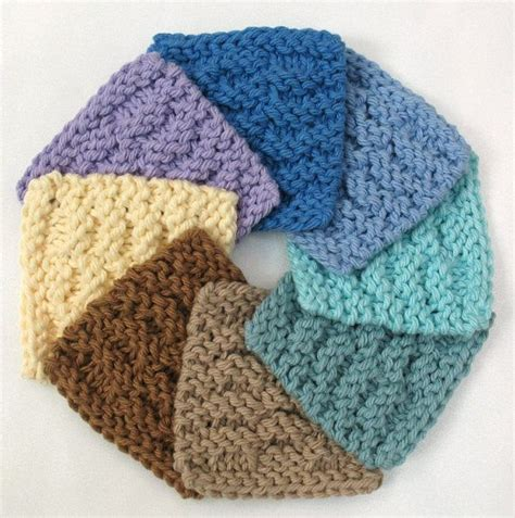 how to knit a scrubby scrubbies washcloth mini knit by