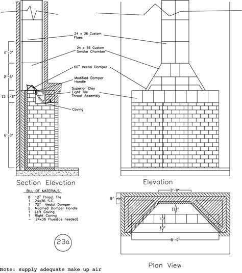 fireplace plan rumford fireplace plans