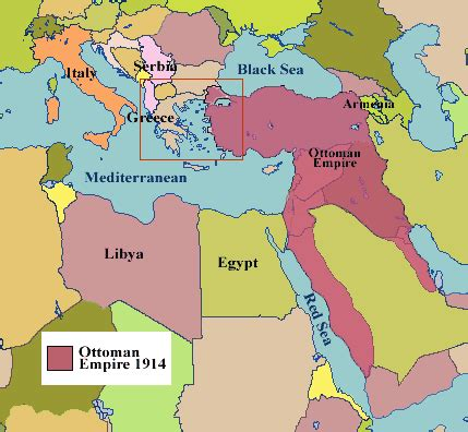 ottoman empire located world war