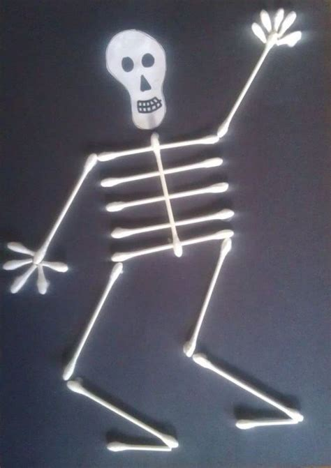 skeleton craft for 22 unique q tip crafts learning activities