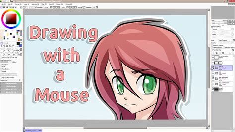 paint tool sai tutorial with mouse tutorial drawing with a mouse sai