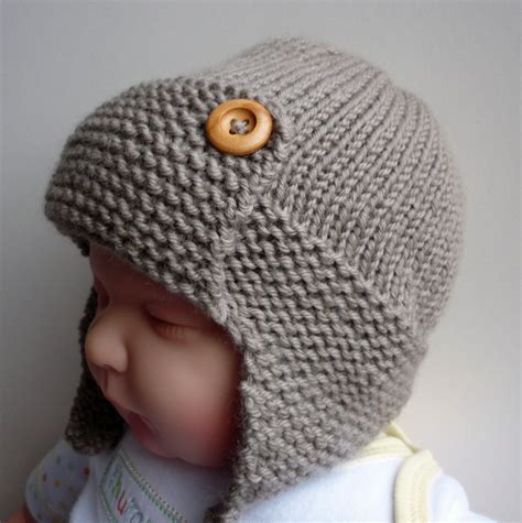 baby hat measurements knit pdf knitting pattern aviator hat baby to child sizes by