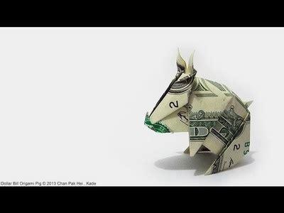 origami pig dollar origami