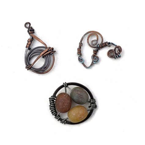 wire works jewelry wire work jewelry pendants three designs
