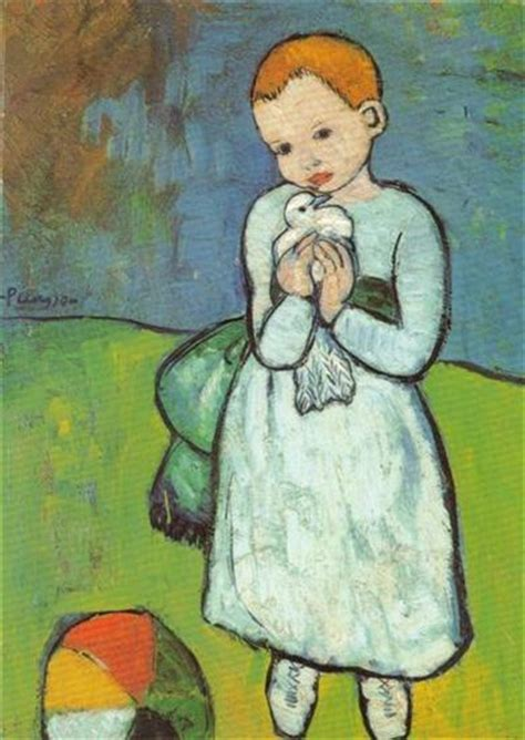 picasso paintings child with a dove becoming picasso 1901 courtauld gallery