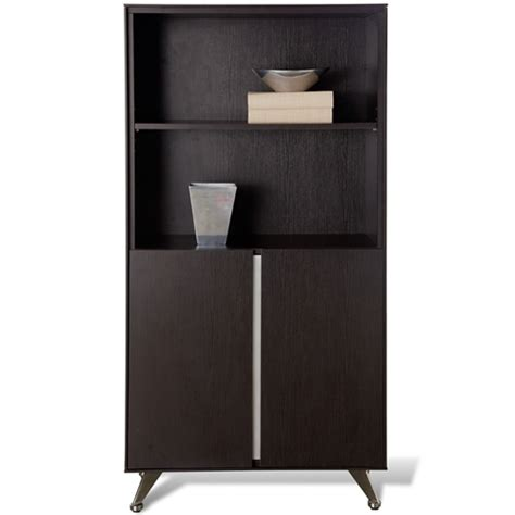 contemporary bookcase with doors contemporary bookcase with doors decarie contemporary