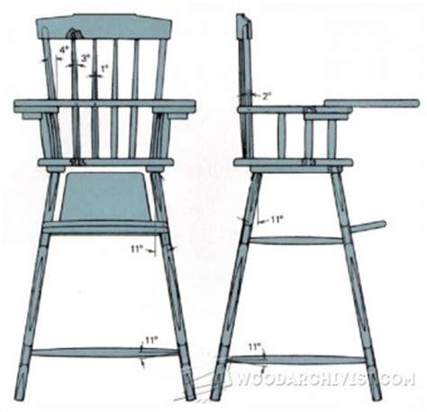 high chair woodworking plans highchair woodarchivist