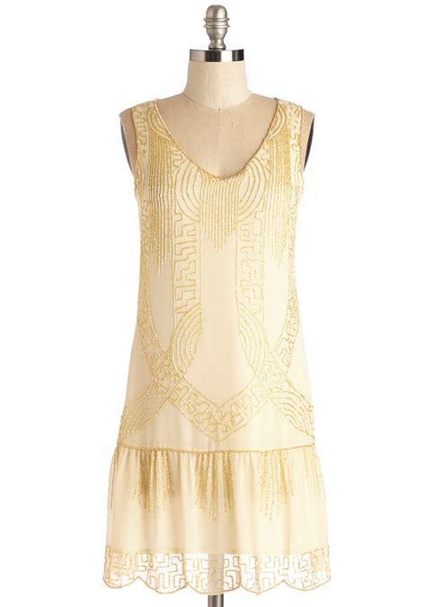 beaded gold dress ivory gold beaded drop waist dress deco shop
