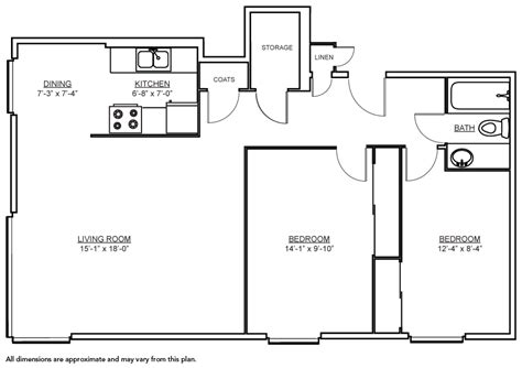 800 square dimensions 28 800 square dimensions modern style house plan 2 beds