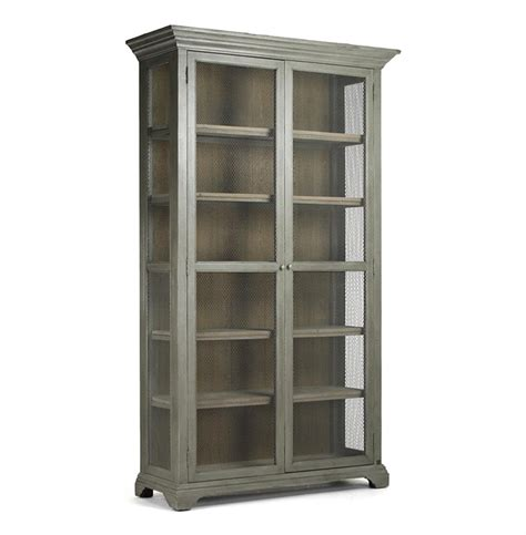 wire bookshelves lucille country grey wash chicken wire bookcase