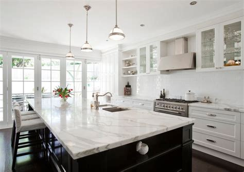 marble kitchen islands calcutta marble countertop transitional kitchen porchlight interiors