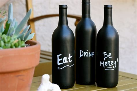 diy chalkboard bottles diy wine bottle with chalkboard paint