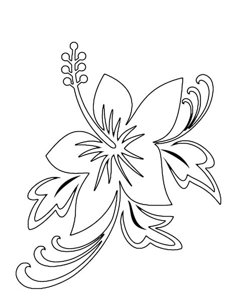 coloring book pictures of flowers tropical flower coloring pages flower coloring page