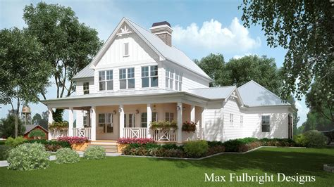 farmhouse house plan 2 story house plan with covered front porch car garage