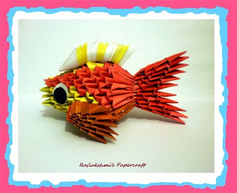 how to make 3d origami fish 3d origami fish by rajlakshmi on deviantart