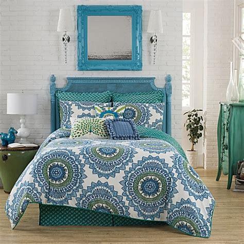 reversible comforter set in teal buy anthology bungalow reversible comforter set in teal