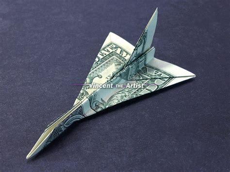 f16 origami f 16 falcon jet fighter money origami vincent the artist