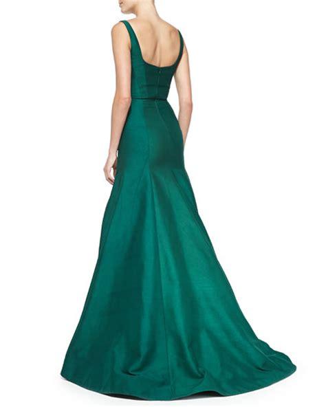 sleeveless beaded mermaid gown ml lhuillier sleeveless beaded waist mermaid gown