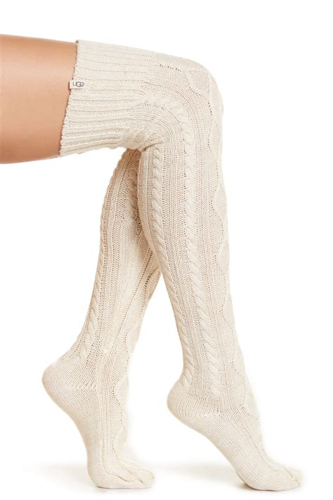 cable knit knee socks ugg australia classic cable knit the knee socks