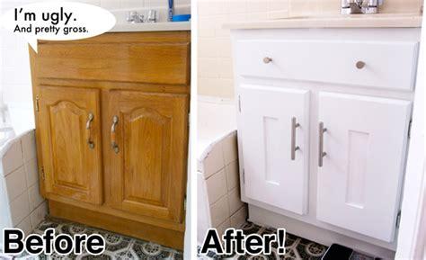 Bathroom Cabinet Makeover by Diy Bathroom Vanity Cabinet Makeover Vanity What A Dumb